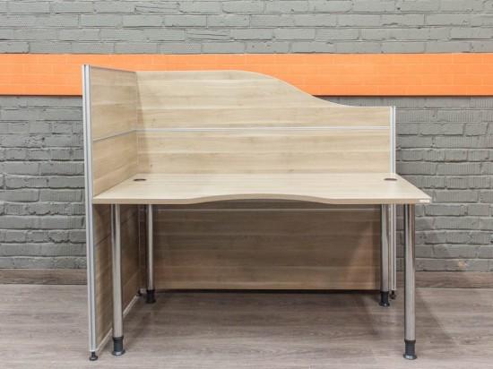 Офисный стол для сотрудника, ясень