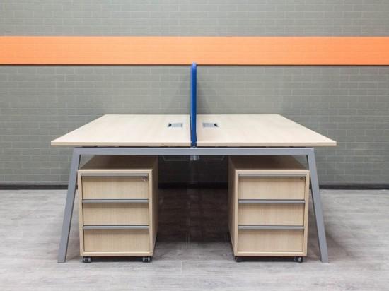 Бенч-система, стол офисный дуб, офисная мебель бу