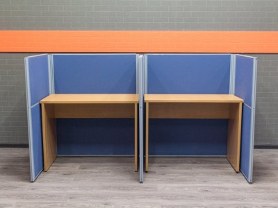 Офисный комплект для колл-центра. Офисная мебель бу.