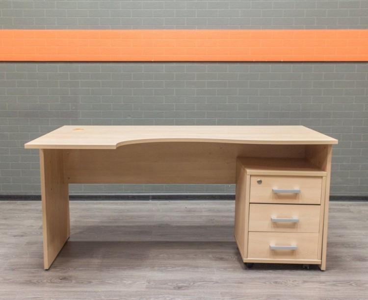 Стол офисный с тумбой бук, офисная мебель бу