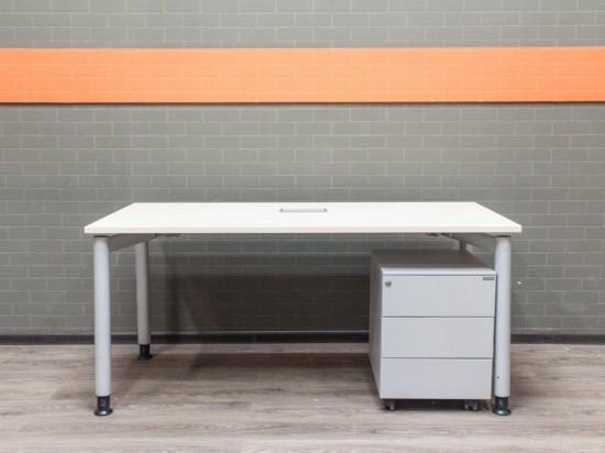 Стол с тумбой металл, офисная мебель бу