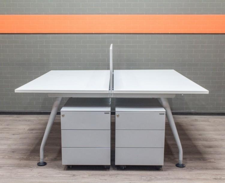 Бенч-система с тумбами, офисная мебель бу