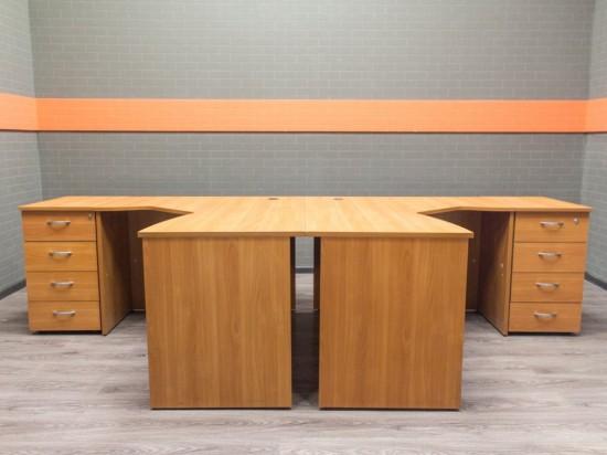 Столы офисные, вишня, офисная мебель бу