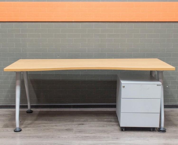 Стол офисный эргономичный, офисная мебель бу