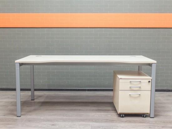 Стол офисный с тумбой Assmann офисная мебель бу
