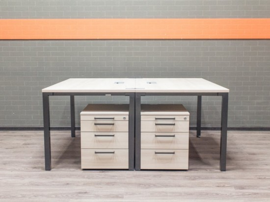 Офисная мебель бу, комплект Steelcase клен