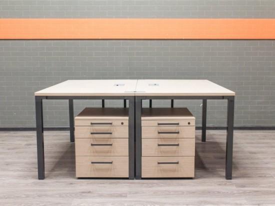 Комплект офисный Steelcase, бенч-система дуб