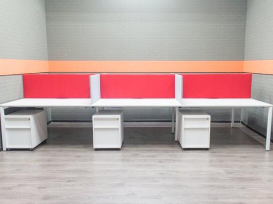 Офисная мебель для 6 сотрудников, бенч-система с тумбами