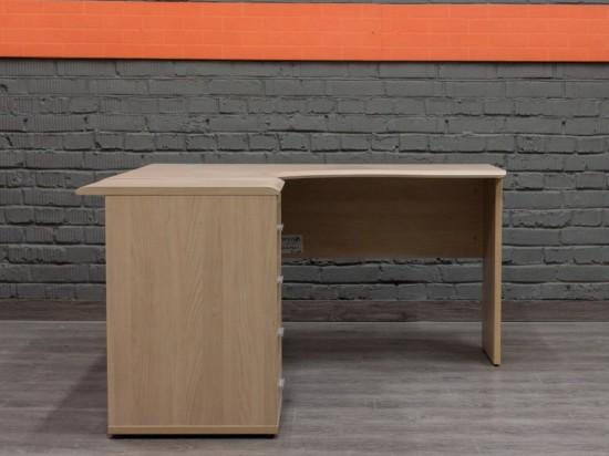 Угловой офисный стол с приставной тумбой
