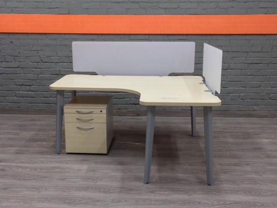 Steelcase Угловой стол с тумбой