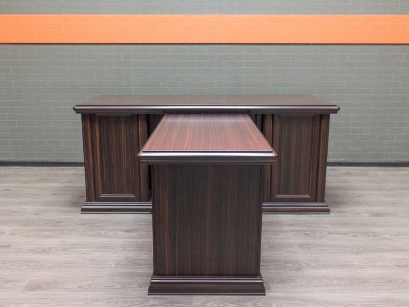 Стол руководителя DUBLIN с брифом, зебрано