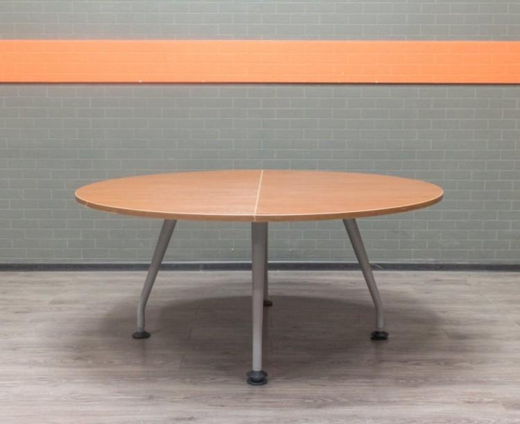 Стол круглый для переговоров, обеденный, вишня