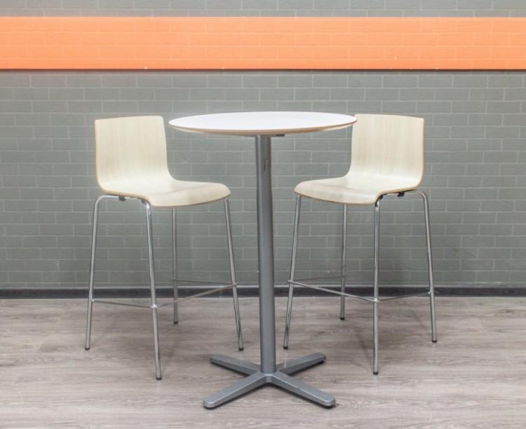 Стол барный высокий со стульями, мдф, фанера, металл