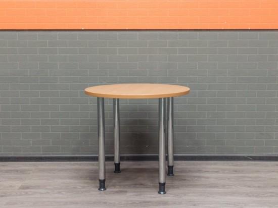 Стол офисный круглый обеденный, переговорный, вишня