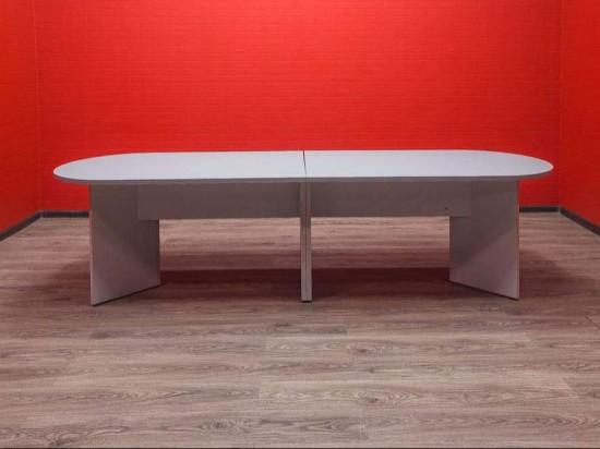 Стол переговорный серый
