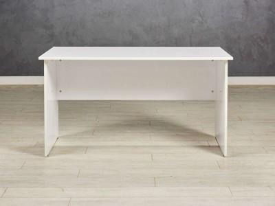 Стол офисный прямой, цвет белый глянец
