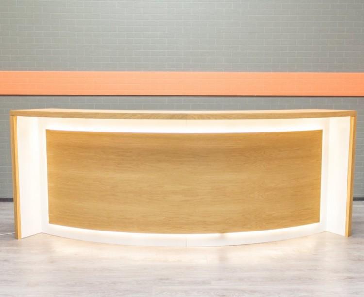 Ресепшн с подсветкой, шпон Офисная мебель бу