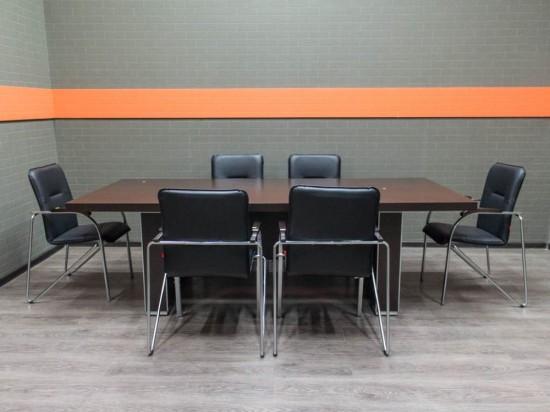 Стол для переговоров новый со стульями, венге