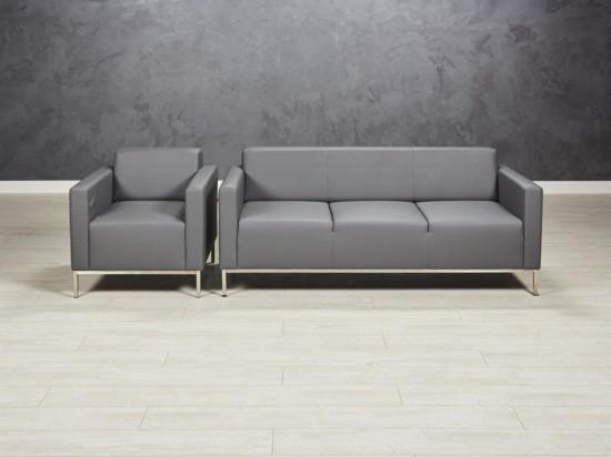 Трехместный диван с креслом Евро Люкс
