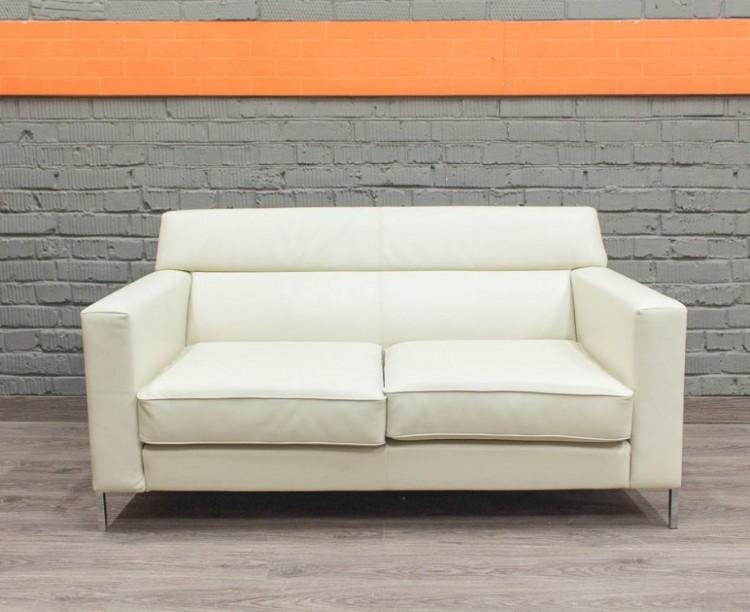 Белый офисный диван Эммаус, экокожа