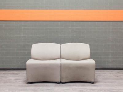 Диван офисный Итальянский секционный, серый