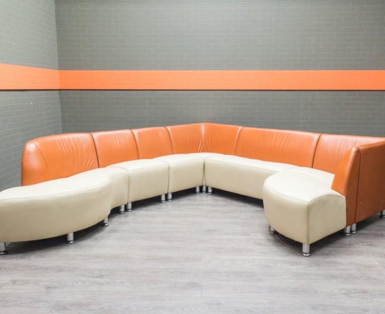 Диван Лабиринт модульный, 8 сегментов Офисная мебель бу
