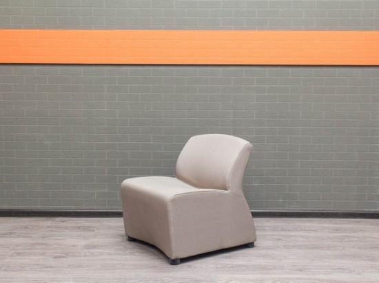 Кресло гостевое, для посетителей, Офисная мебель бу. серое