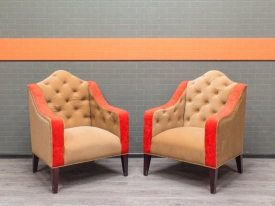 Кресла мягкие в ретро стиле, велюр. Офисная мебель бу