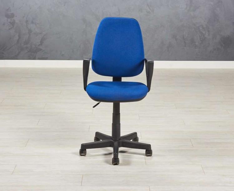 Кресло престиж синее бу