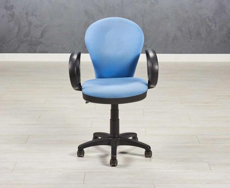Кресло офисное голубое
