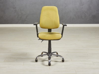 Кресло для персонала салатовое 630х490х1100