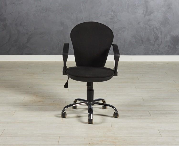 Кресло для персонала цвет черный 540х600х910