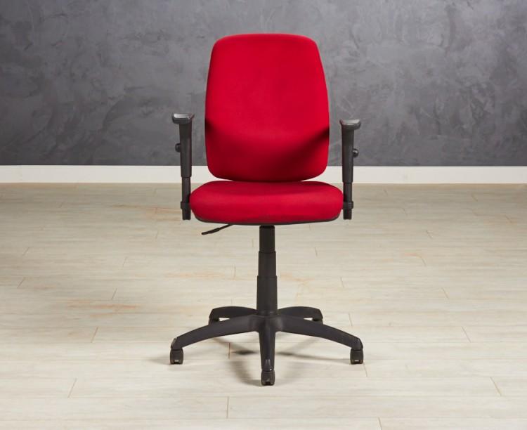 Кресло офисное Forsit бордовое