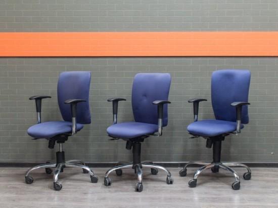 Кресло компьютерное синее Bene, Германия Офисная мебель бу.
