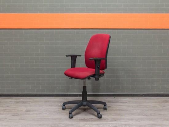 Компьютерное кресло красное, офисная мебель бу