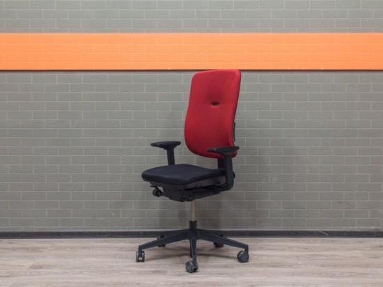 Компьютерное кресло, ткань, красное с черным