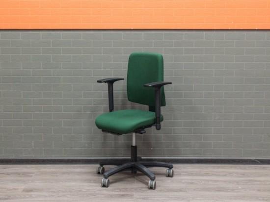 Компьютерное кресло, зеленая ткань, т-подлокотники