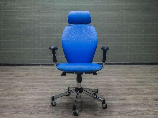 Кресло офисное синее Chairman