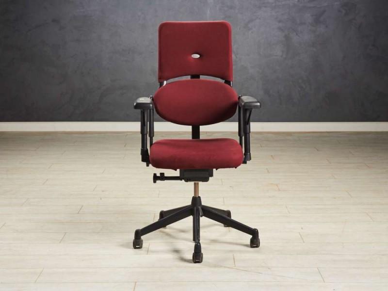 Кресло руководителя Steelcase, цвет бордовый