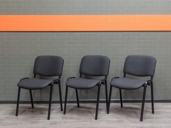 Стул офисный новый ISO, серый