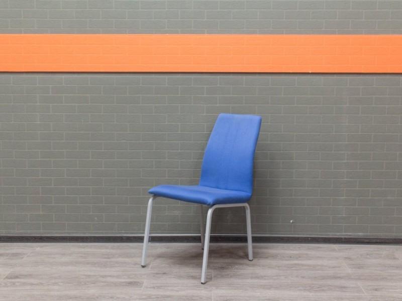 Стул офисный для посетителей, синий