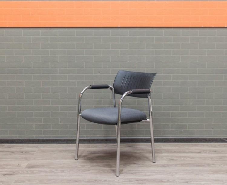 Стул офисный серый, офисная мебель бу