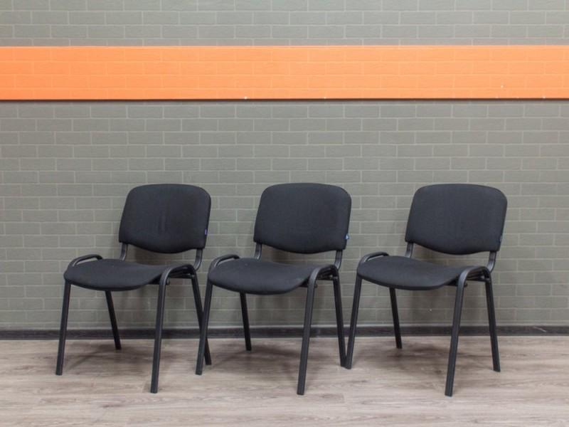 Стул офисный гостевой ИЗО, ISO черный