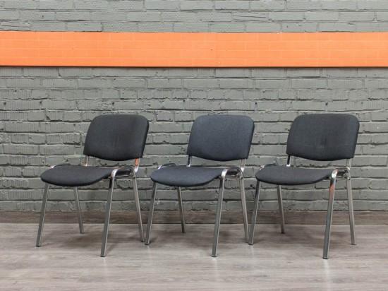 Стул офисный новый ISO, хром