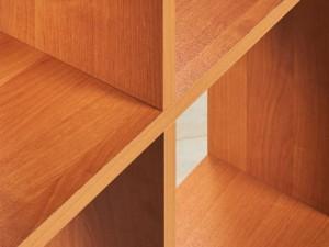 Шкаф стеллаж открытый в цвете ольха