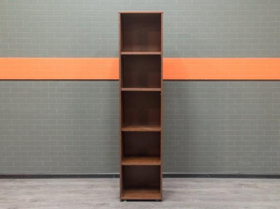 Офисная мебель бу. Стеллаж узкий открытый, орех