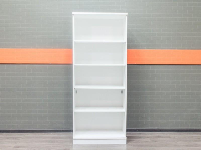 Стеллаж офисный шкаф открытый белый, 4 полки
