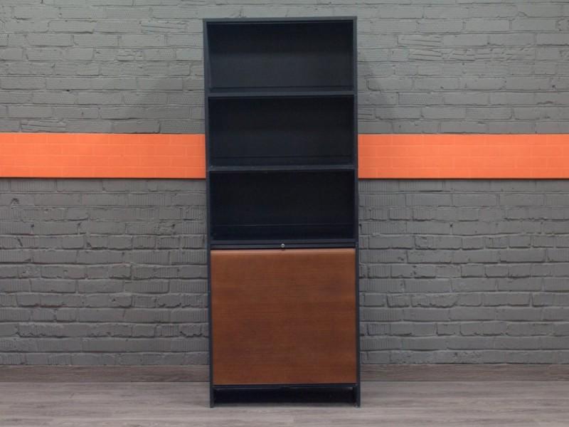 Шкаф, стеллаж полуоткрытый черный