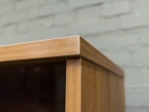 Стеллаж офисный, шкаф со стеклом, орех