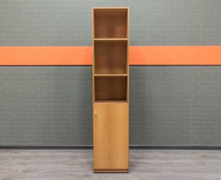 Стеллаж узкий, вишня, офисная мебель бу